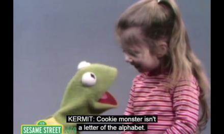 Cookie Monster isn't in the Alphabet?! … Sweet Little Girl on Sesame Street