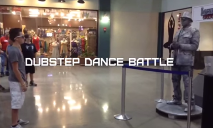 Who Wins? Young Boy? Or Robot? Dubstep Dance Off.