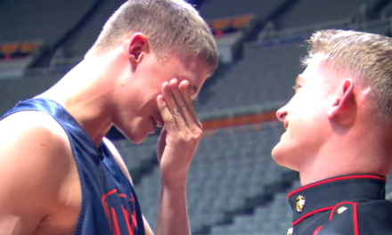 Marine Surprises Basketball Player Brother Before Michigan Game.