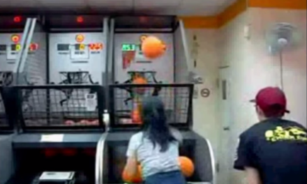 Girl Makes 114 Shots in a Row at Pop Shot Basketball. Amazing.