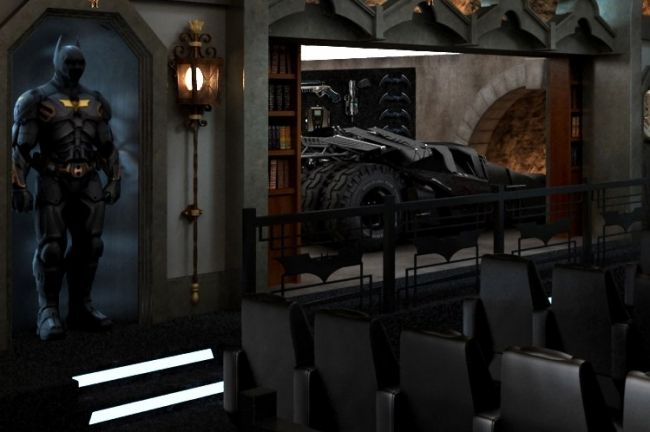 Batman Themed Movie Theater Yes Please Simple Thing
