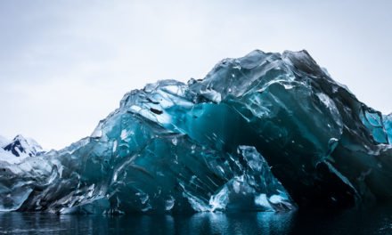 Beautiful Pictures of a Rare Flipped Iceberg