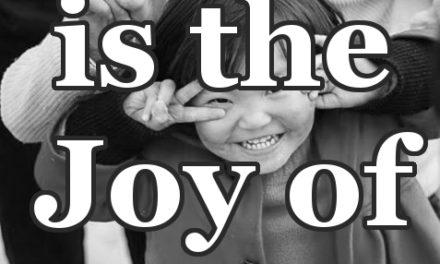 Love is the Joy of Good.