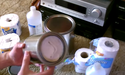 Lifehack #4: Toilet Paper and Metal Can Heaters