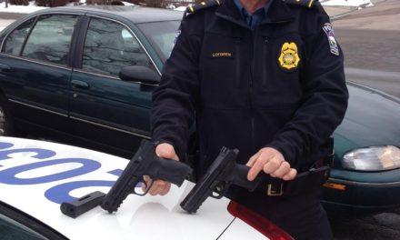 Police Officer Compares Real Gun to BB Gun.
