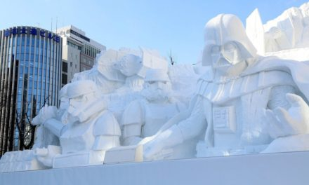 Japanese Army Creates Star Wars Snow Sculpture.