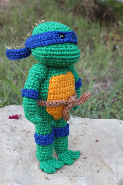 Free Crochet Patterns For Ninja Turtle Hat : DIY Crochet Teenage Mutant Ninja Turtle Dolls. - Simple ...