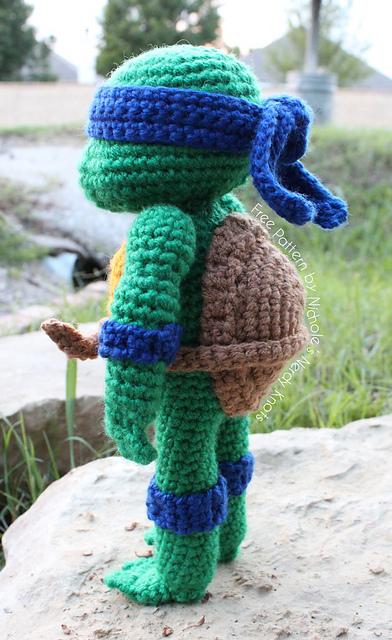 Tmnt Knitting Patterns : DIY Crochet Teenage Mutant Ninja Turtle Dolls. - Simple ...