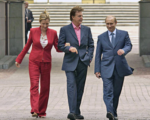 The Beatles Polska: Prezydent Putin spotyka się z Beatlesem.