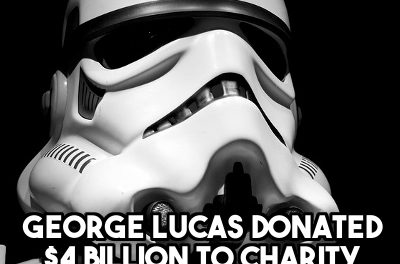 George Lucas sold Lucasfilm to Disney for $4 billion and donated the proceeds to charity