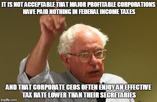 2 - Bernie has it right on Tax Reform pt 1