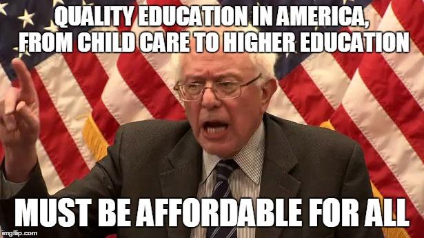 7 - Bernie on education