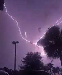 Mother Nature Adds Lightning to a Fireworks Show