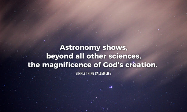 Astronomy reveals God's creation