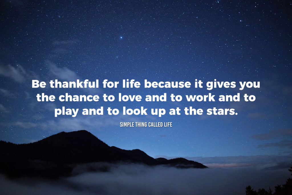 Be Thankful For What Life Gives You. Life Quotes