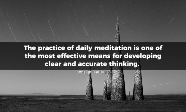 Conceive ideas in meditation