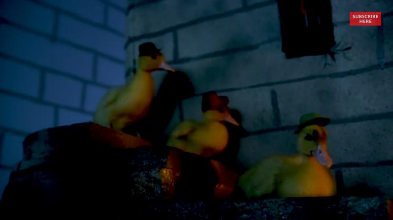 Real ducks recreate Ducktales