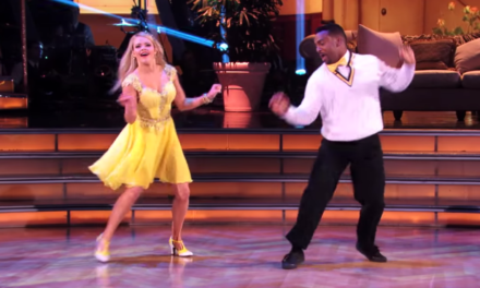 Carlton does Fresh Prince of Bel-Air Dance on 'DWTS'.