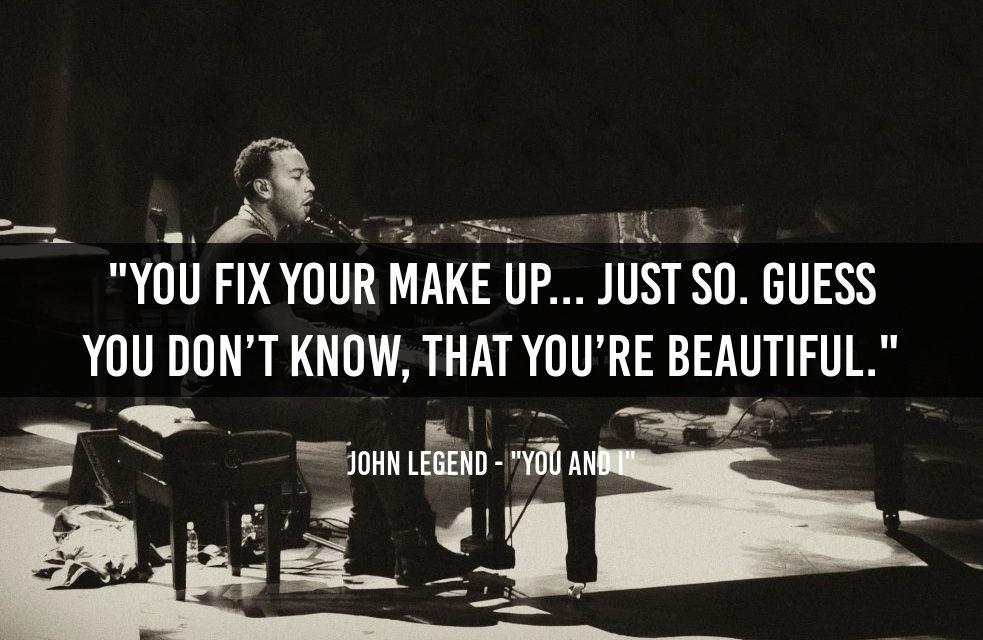 John Legend's message to his wife