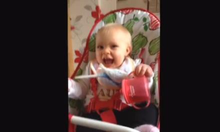 Baby Nearly Eats Bird… In a Very Cute Way
