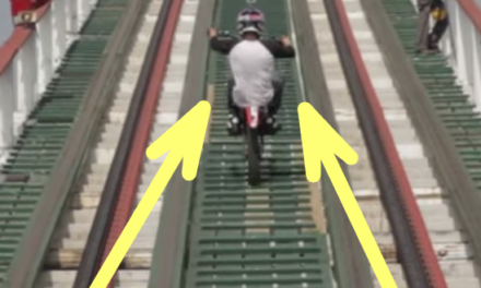 Insane Guy Rides Bike on Rollercoaster.