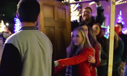 Magic Door Leads to Instant Christmas Carols.