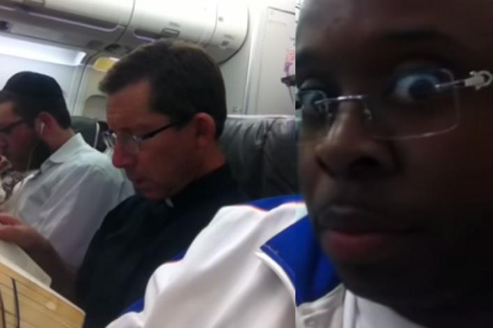 So a Black Guy, a Priest and a Rabbi Got on a Plane.