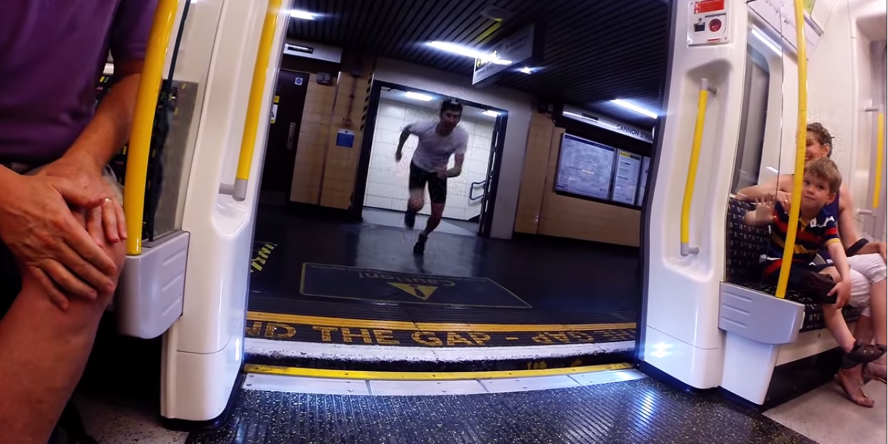 Need Some Inspiration? This Man Races a Train and Wins. Crazy Video.
