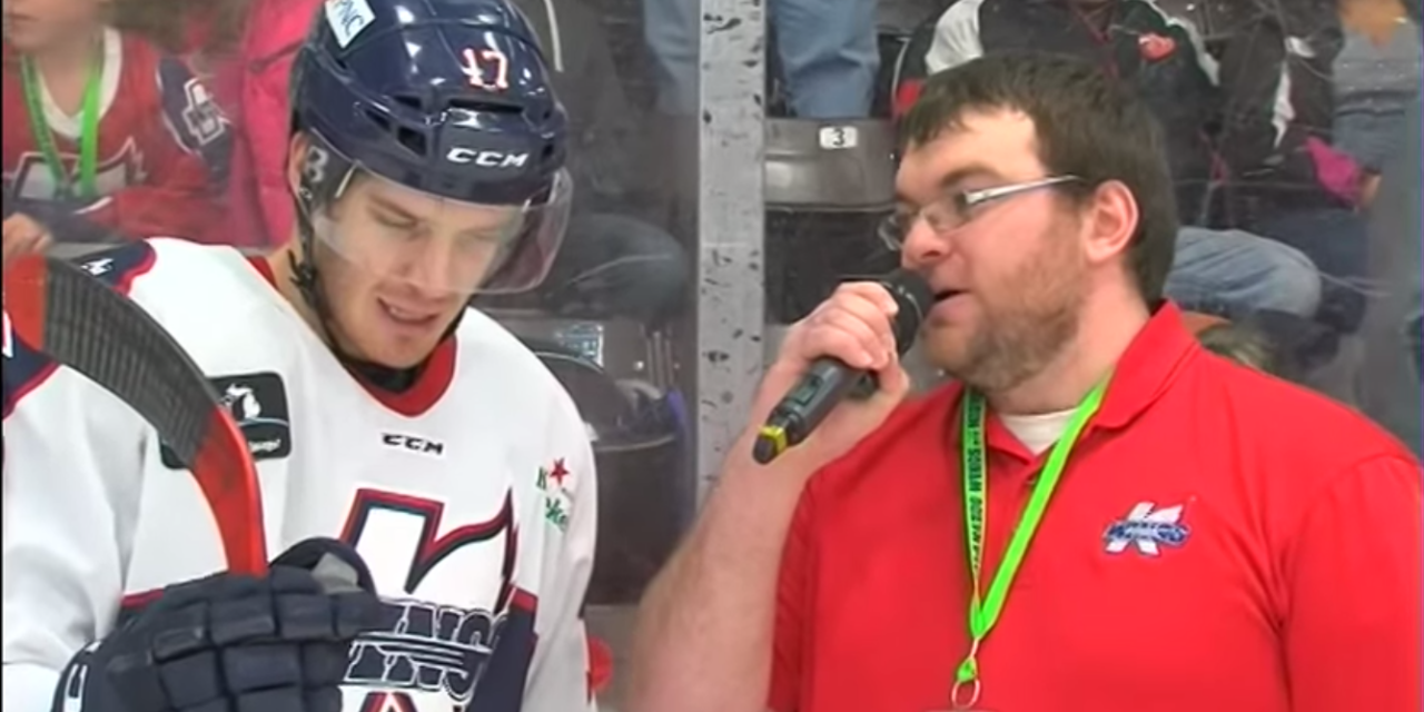 Hockey Player Meows 7 Times During Interview.