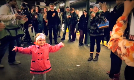 This Little Girl Created a Special Dance Party in the NYC Subway.