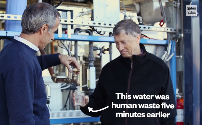 Bill Gates Drinks Water That Used to be Human Poop.