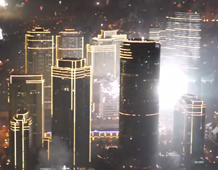 What Happens When Everyone Shoots Off Fireworks on New Years.