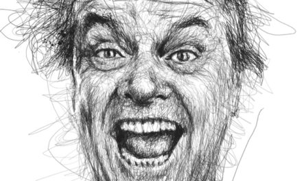 Scribbled Celebrity Caricatures by Vince Low.