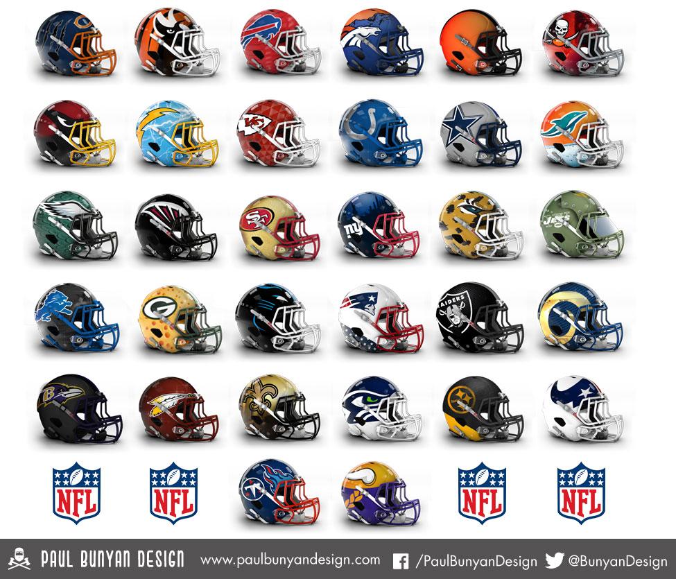 33 - Redesigned-NFL-Helmets