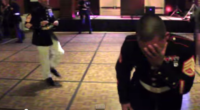 Marine's Dance Moves Blow Everyone Away.
