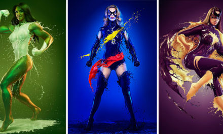 Sexy Liquid Superheroes To Hang On Your Wall.