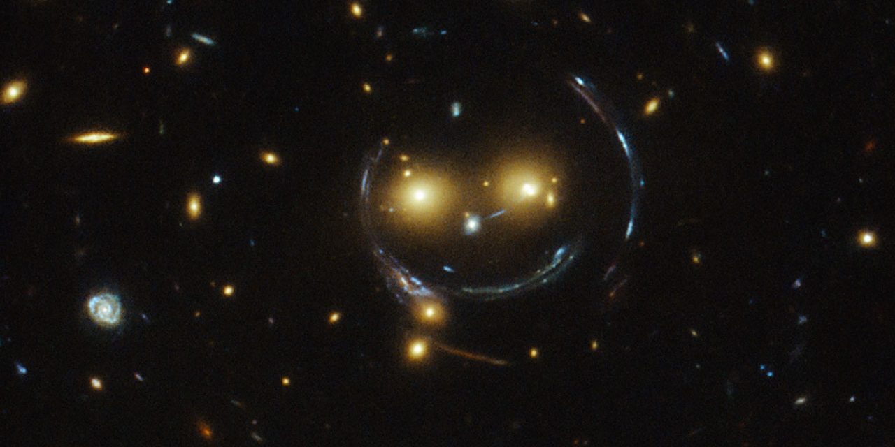 Smiling Galaxy Caught With Hubble Space Telescope.
