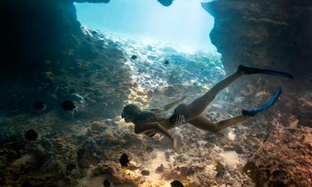 "Bahamas Underwater Cave, ""Thunderball Grotto""."