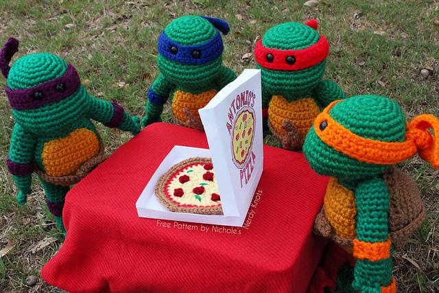 DIY Crochet Teenage Mutant Ninja Turtle Dolls.