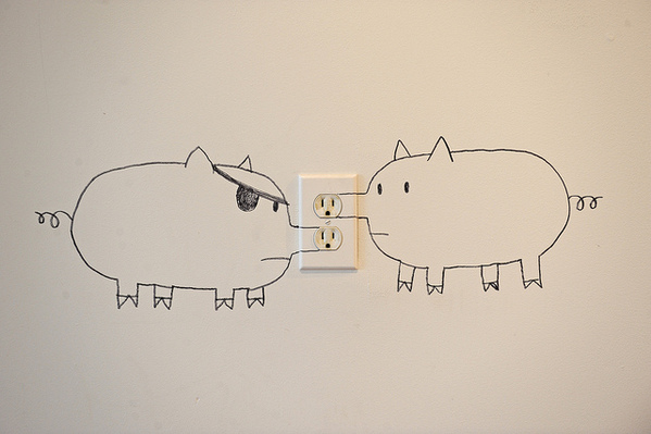 Draw Pigs on an Outlet: Now It's a Snoutlet