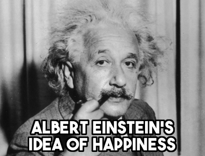 Albert Einstein's Theory on Happiness