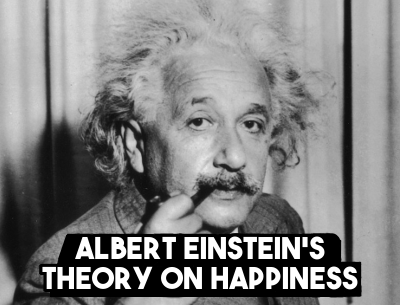 Albert Einstein on happiness, talent and the future
