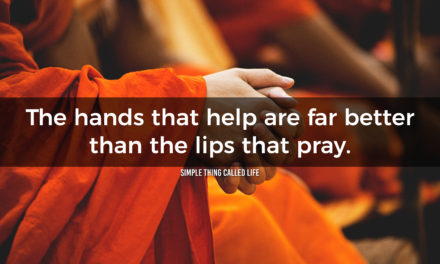 Helping hands beat praying lips