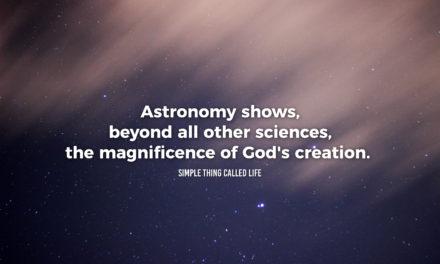 Astronomy reveals God's creation