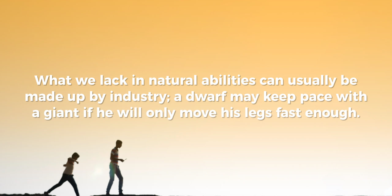 Hard work beats natural ability