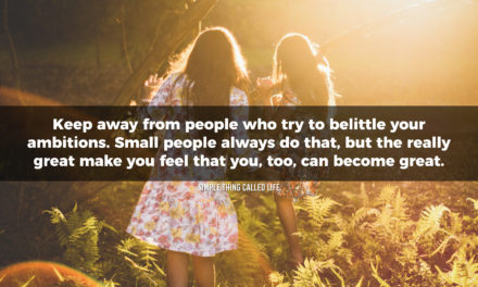 Keep away from negative people