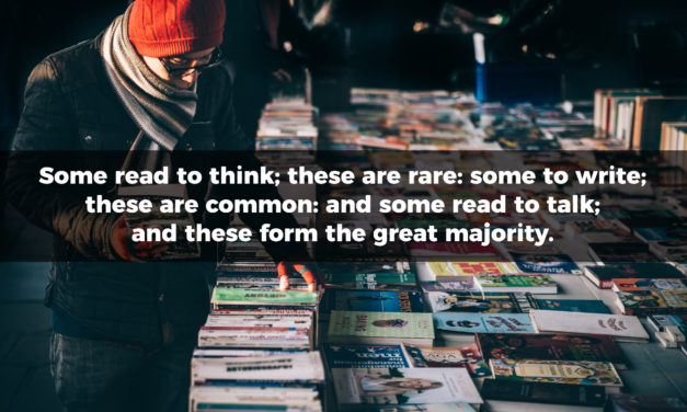 People Who Read To Think Are Rare
